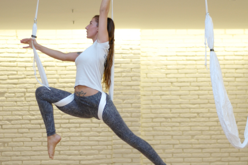 Aerial yoga classes have started at the studio